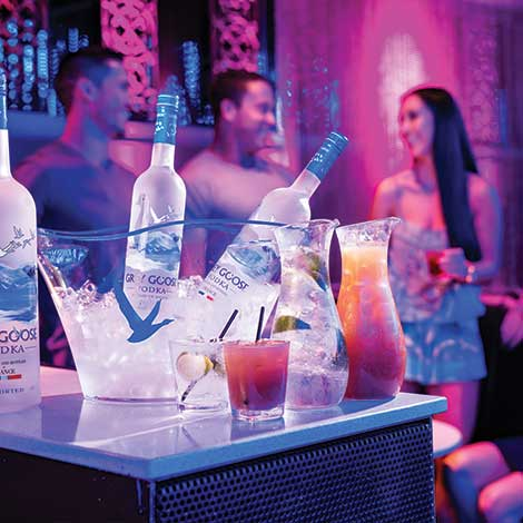 Bottle Service in The Attic Lounge Bar
